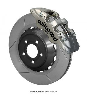 "Wilwood AERO6 Big Brake Front Brake Kit (Race) - 15"" Slotted Rotors (Nickel) (2016 Ford Mustang GT)"