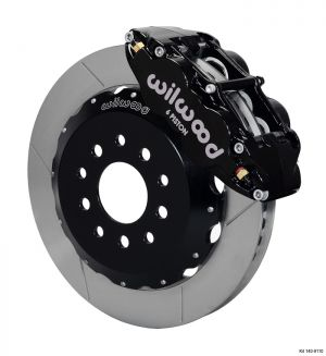 "Wilwood  Forged Narrow Superlite 6R Big Brake Front Brake Kit (Hat) w/ 14"" Rotors (05-14 Mustang) (Black)"