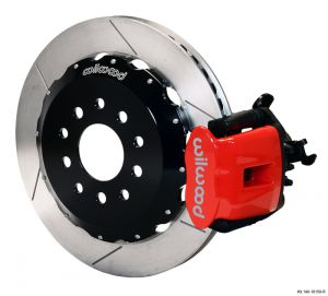 "Wilwood Combination Parking Brake Caliper Rear Brake Kit w/ 12.88"" Rotors (05-14 Mustang) (Red)"