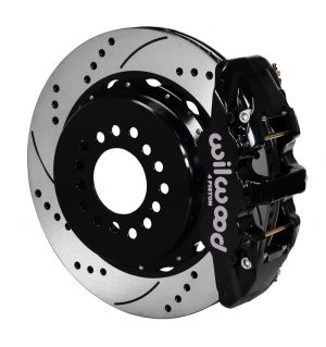 "Wilwood  AERO4 Big Brake Rear Parking Brake Kit w/ 14"" Rotors (05-14 Mustang) (Black)"