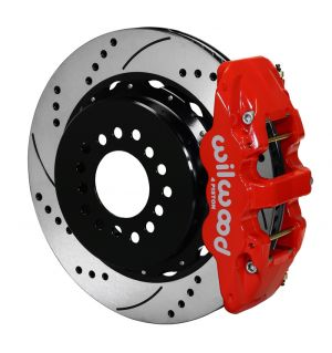 "Wilwood  AERO4 Big Brake Rear Parking Brake Kit w/ 14"" Rotors (05-14 Mustang) (Red)"