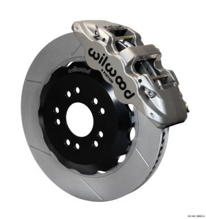 "Wilwood AERO6 Big Brake Front Brake Kit (Race) w/ 14"" Rotors (05-14 Mustang) (Nickel)"