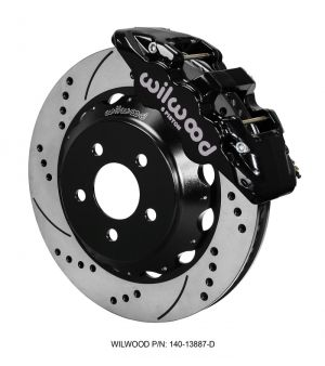 "Wilwood AERO6 Big Brake Front Brake Kit w/ 15"" Rotors (Black) (2016 Ford Mustang GT)"