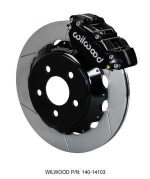 "Wilwood Dynapro Radial Front Drag Brake Kit - w/ 12.88"" Slotted Rotors (Black) (2016 Ford Mustang GT)"