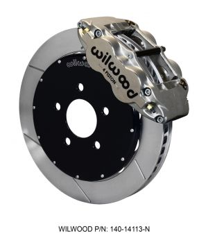 "Wilwood Forged Superlite 4R Big Brake Front Brake Kit  w/ 12.88"" Rotors (Nickel)  (94-04 Mustang)"