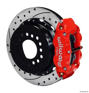 "Wilwood Forged Narrow Superlite 4R Big Brake Rear Parking Brake Kit w/ 12.88"" Rotors (05-14 Mustang) (Red)"
