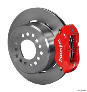 "Wilwood Forged Dynalite Rear Parking Brake Kit w/ 12.19"" Rotors (05-14 Mustang) (Red)"