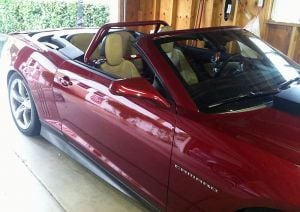 RPM Rollbars Camaro Convertible 2010-2015 Roll bar w/ FREE GoPro Style Action Camera & Harness Belt