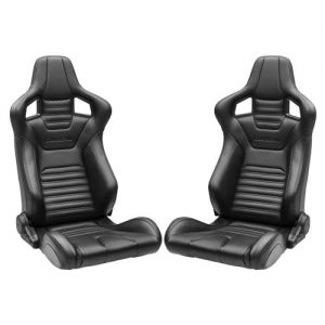 Corbeau Sportline RRS Racing Seats (1 Pair)(Mustang Bundle) w/ Direct Fit Seat Brackets