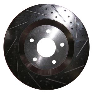 TPS Mustang GT500 Brembo Slotted/ Dimpled Rotor Set 2005-2013 (FRONT ONLY)