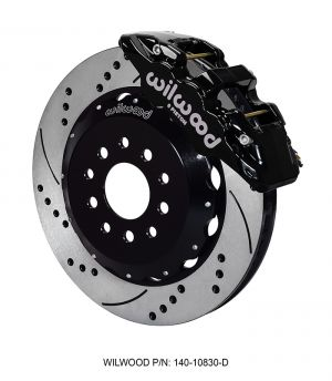 "Wilwood AERO6 Big Brake Front Brake Kit w/ 14"" Rotors (05-14 Mustang) (Black)"