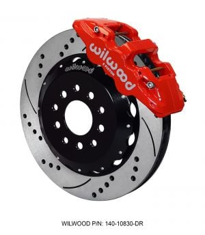 "Wilwood AERO6 Big Brake Front Brake Kit w/ 14"" Rotors (05-14 Mustang) (Red)"