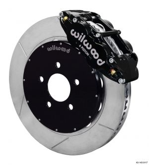 "Wilwood Forged Narrow Superlite 6R Big Brake Front Brake Kit (Hat) w/ 14"" Rotors (Black)  (94-04 Mustang)"