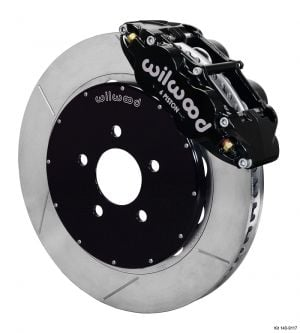 "Wilwood Forged Narrow Superlite 6R Big Brake Front Brake Kit (Hat) w/ 12.88"" Rotors (Black)  (94-04 Mustang)"