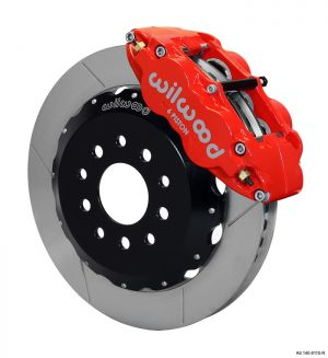 "Wilwood Forged Narrow Superlite 6R Big Brake Front Brake Kit (Hat) w/ 13.06"" Rotors (05-14 Mustang) (Red)"