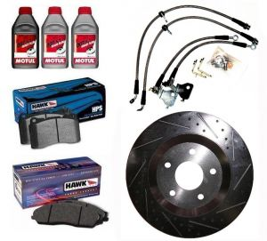 TPS Stage 2 Brake Upgrade Kit-Mustang 05-12 GT500 Brembo (SLOTTED/ DIMPLED ROTORS)