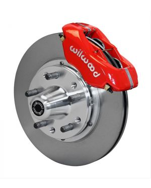 Wilwood Forged Dynalite Pro Series Red Front/Rear Disc Brake Kits (1984-1993 Mustang V8)