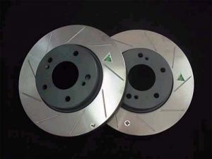 TPS Mustang GT500 Brembo Slotted Rotor Set 2005-2013 (FRONTS ONLY)